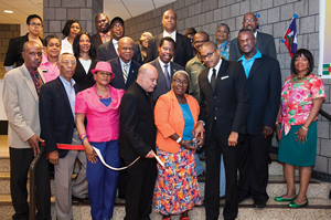 DC 37 Caribbean Heritage Month ribbon cutting in June.
