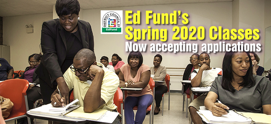 Click here to register for FREE Education Fund classes.